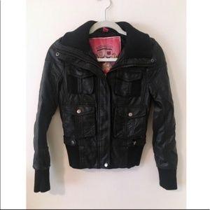 Bernardo Collection Moto Leather Jacket Size XS
